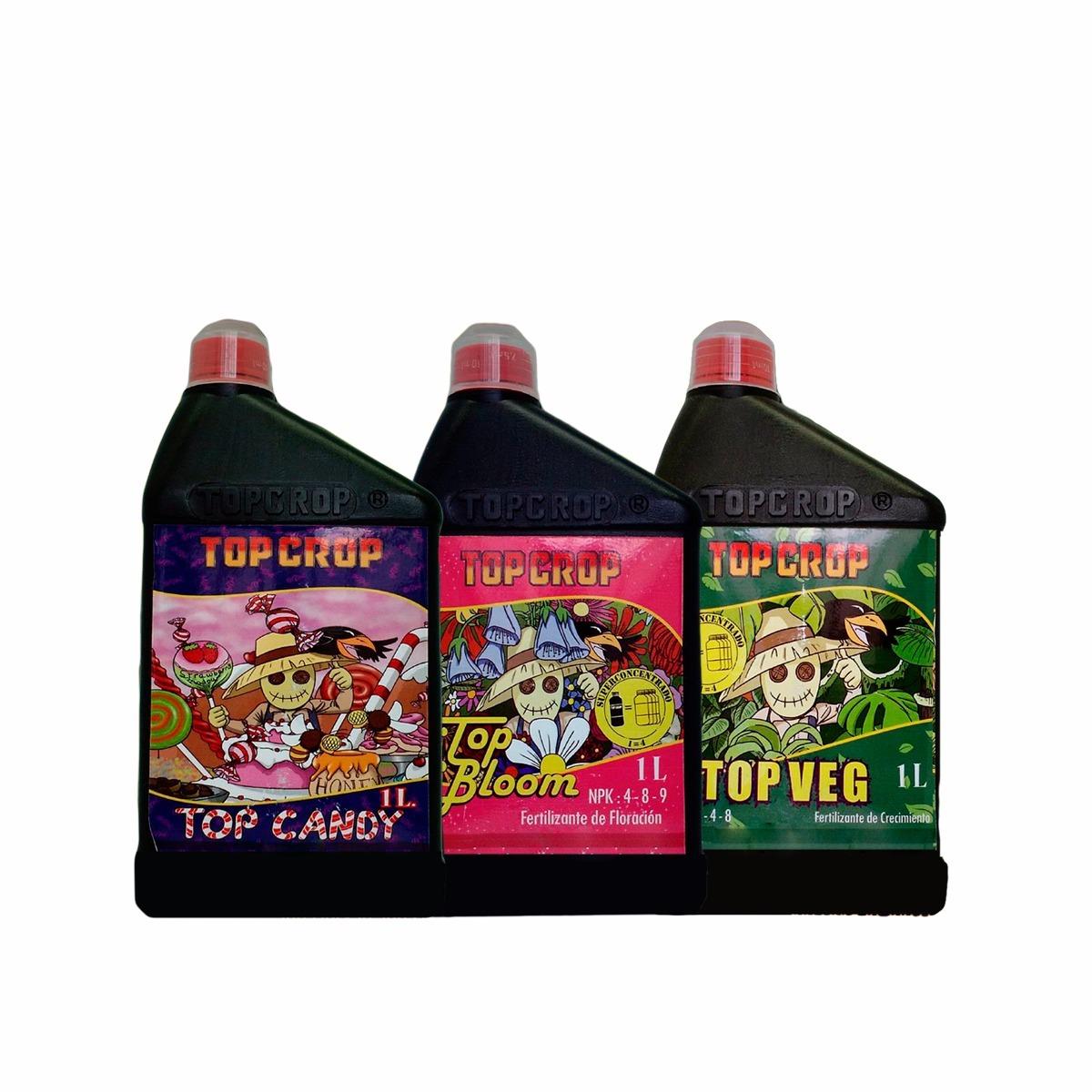 Fertilizantes Top Crop 1L pack x 3